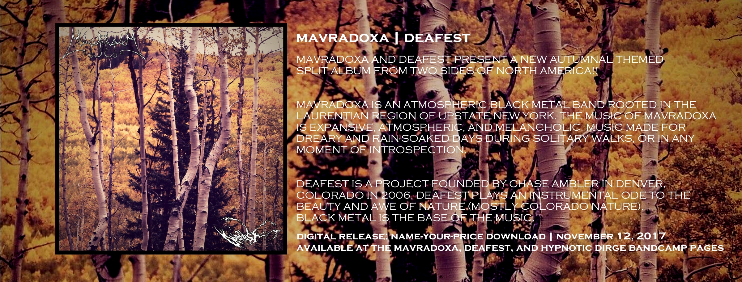 DIGITAL ALBUM RELEASE: Mavradoxa   Deafest [Split Album]